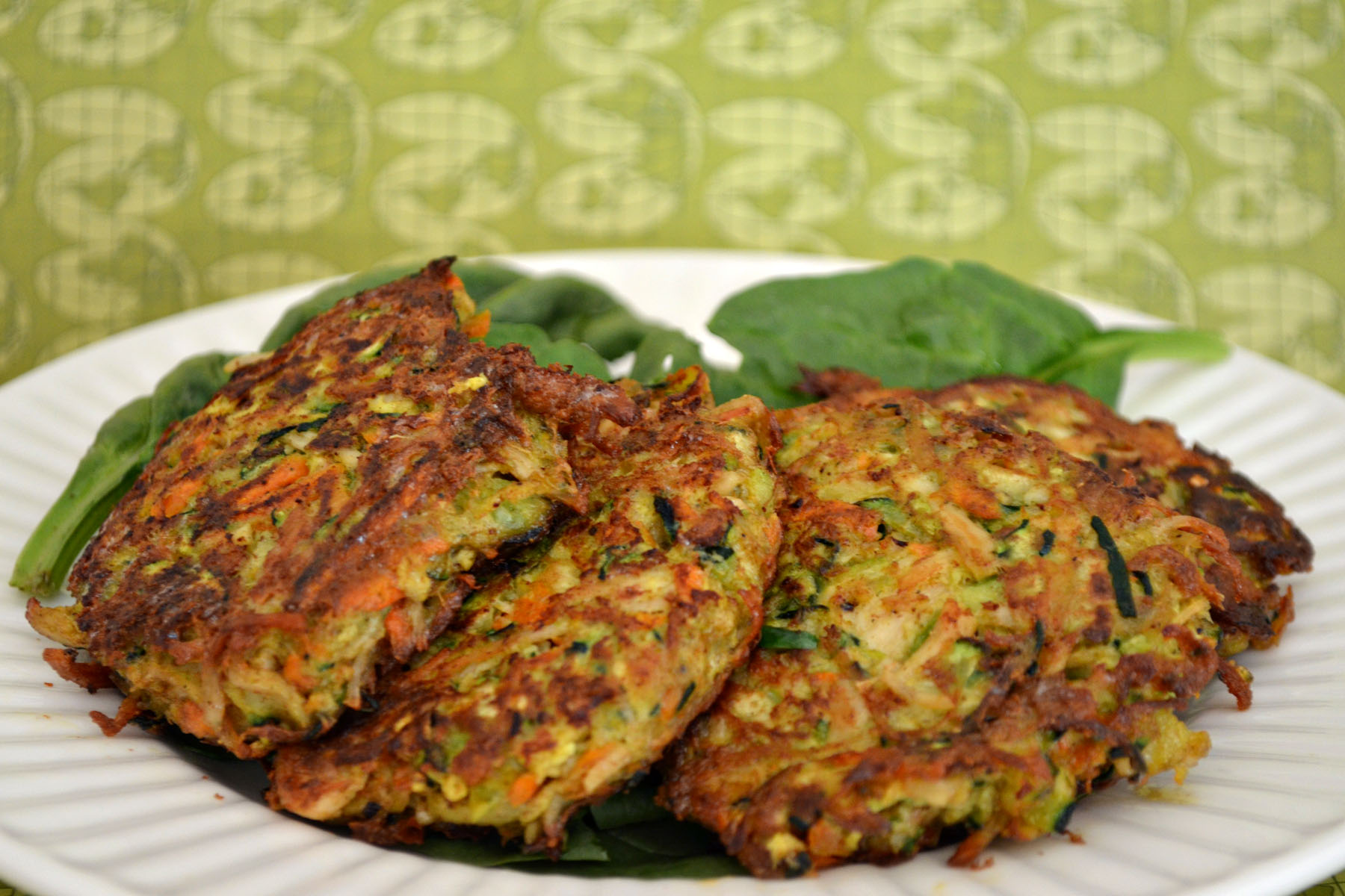 Indian Spiced Chicken Zucchini Fritters | Awkward Girl ...